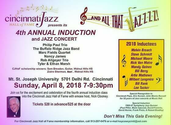 Cincinnati Jazz Hall of Fame Induction